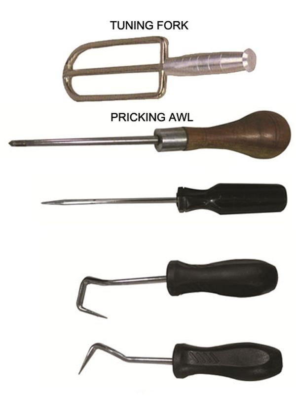 TUNING FORK  PRICKING AWL